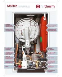 Hi-Therm MATRIX 35 кВт Настінний газовий котел конденсаційний (2-x конт)